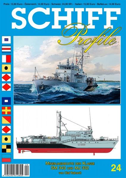 SCHIFF Profile 24 Minenjagdboote der Klasse SM 343 und MJ 332