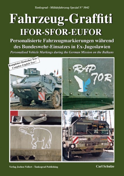 TG-5042 Fahrzeug-Graffiti IFOR-SFOR-EUFOR